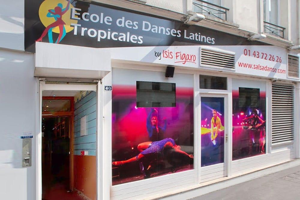 adresse de l'école des danses latines et tropicales à Paris
