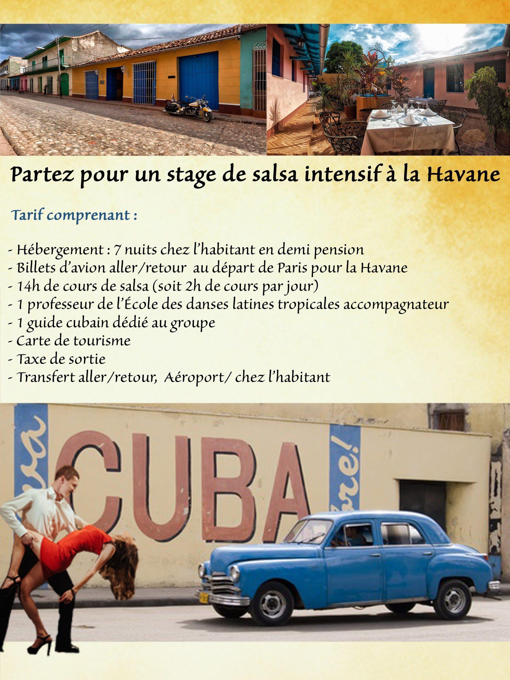 voyage à cuba école des danses tropicales